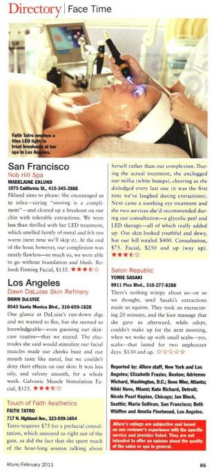 As seen in Allure Magazine February 2011