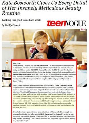 As seen in Teen Vogue Magazine