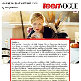 As seen in Teen Vogue Magazine